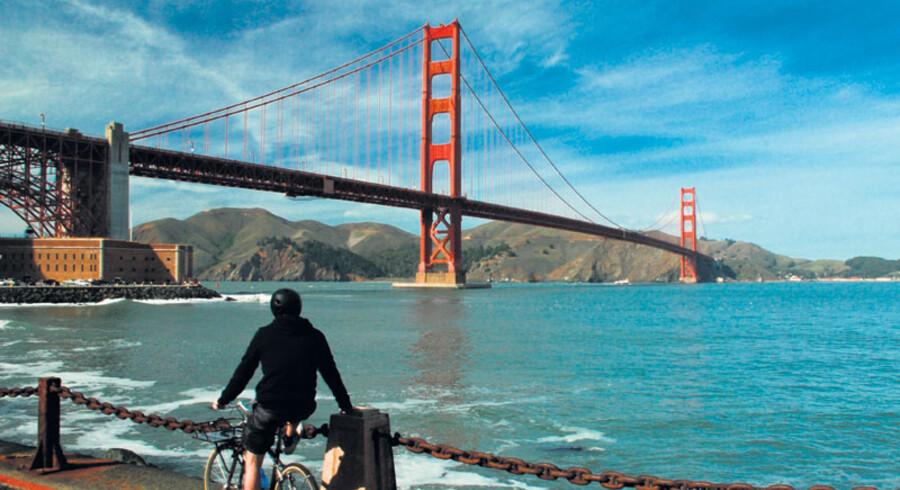En af de bedste udsigter til Golden Gate får man her ved siden af Fort Point.
