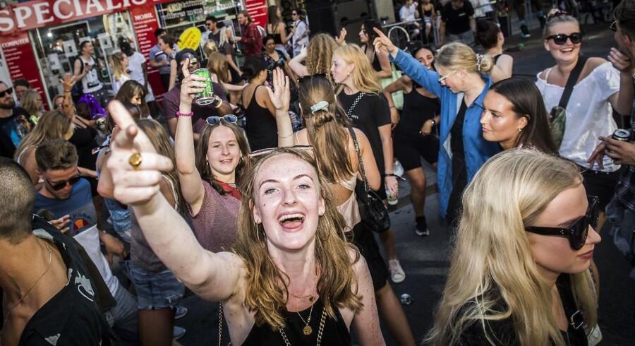 Koncert på Nørrebrogade. Distortion-festivalen løber af stablen i København for 20. gang onsdag den 30. maj 2018. (Foto: Jonas Olufson/Ritzau Scanpix)