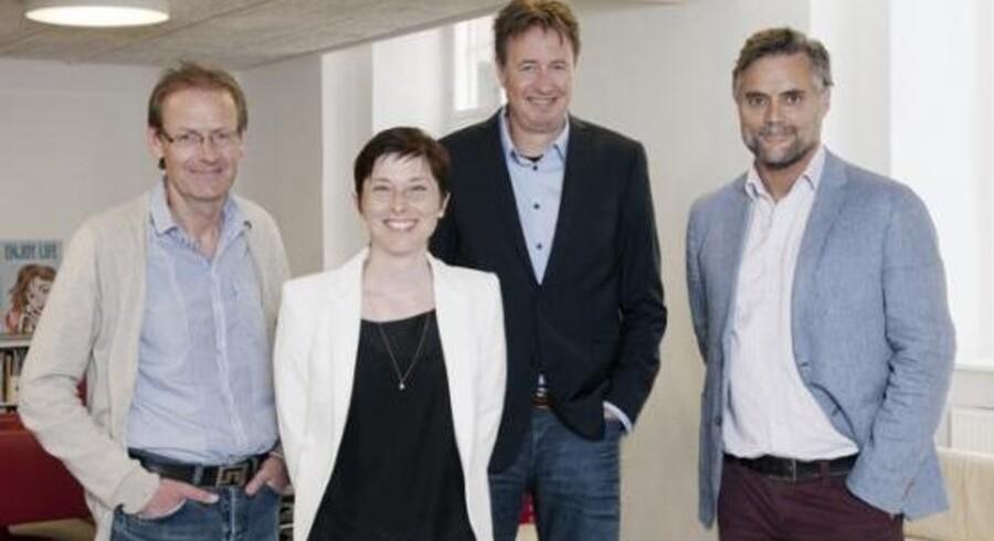 På billedet optræder fra venstre: Ove Grønnevik, Media Bergen, Elisabeth Tissot Ludvig, Effector, Søren Kyllebæk og Joachim Rosenstand
