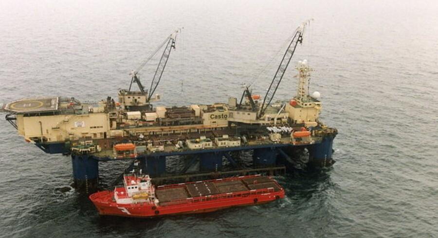 Dongs olieboreplatform i Nordsøen.