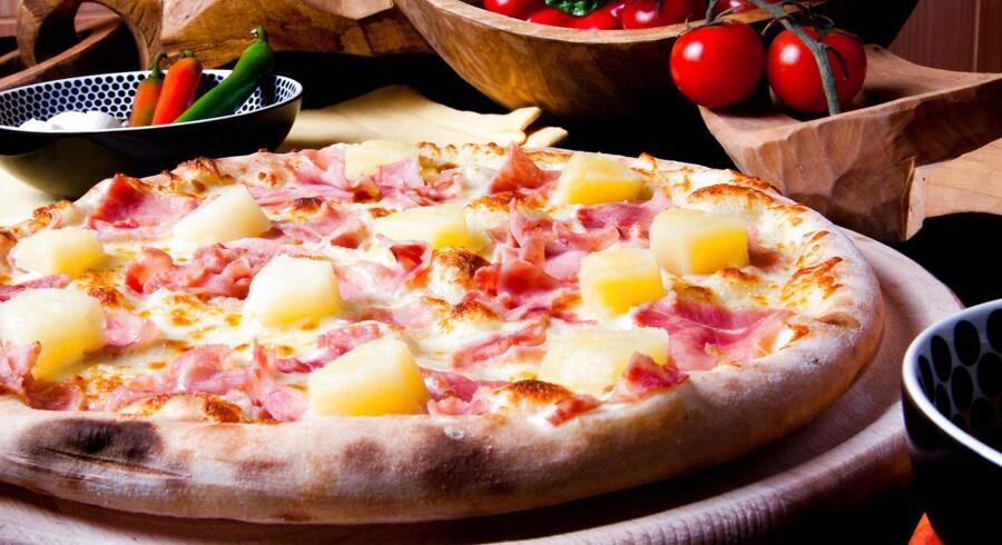 En sand klassiker: Hawaii-pizzaen.