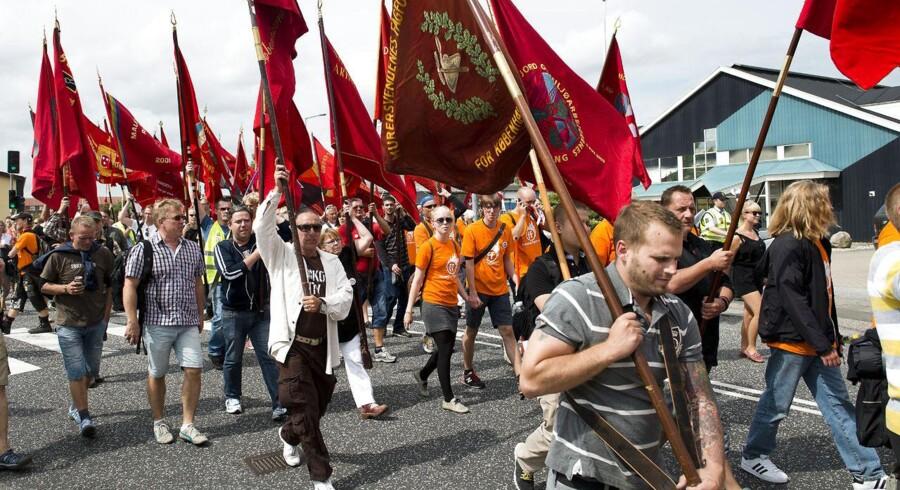 Støttedemonstration til fordel for 3Fs blokade af Restaurant Vejlegården