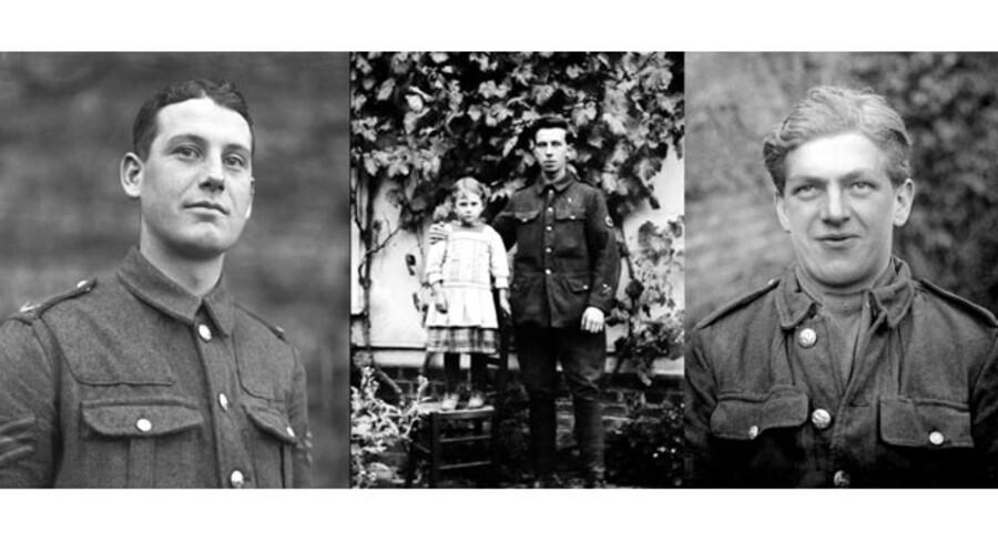 Billeder af anonyme »tommies« fra Somme-fronten 1915 til 1916 fotograferet af en ukendt fotograf. Det er ansigter uden filter. De er klar over, hvad der venter dem. Vi er alle blevet knyttet sammen af deres lidelse. De satte gang i den moderne verden. Med demokrati, kvindefrigørelse, fællesskab.