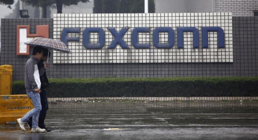 Her ses en Foxconn-fabrik i byen Kunshan i den kinesiske Jiangsu-provins.