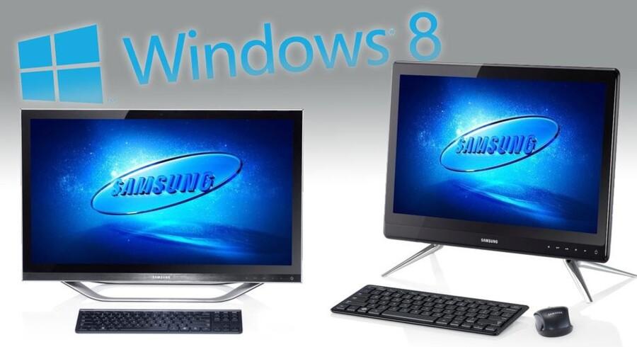 Samsungs nye alt-i-en computere er lavet til at blive brugt med fingrene. Foto: Hardware.no/Samsung