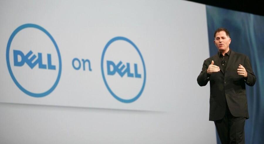 Dells stifter og topchef, Michael Dell, kæmper i øjeblikket ikke blot en kamp om at styre sin egen virksomhed men slås også med stærkt faldende indtjening. Arkivfoto: Kimihiro Hoshino, AFP/Scanpix