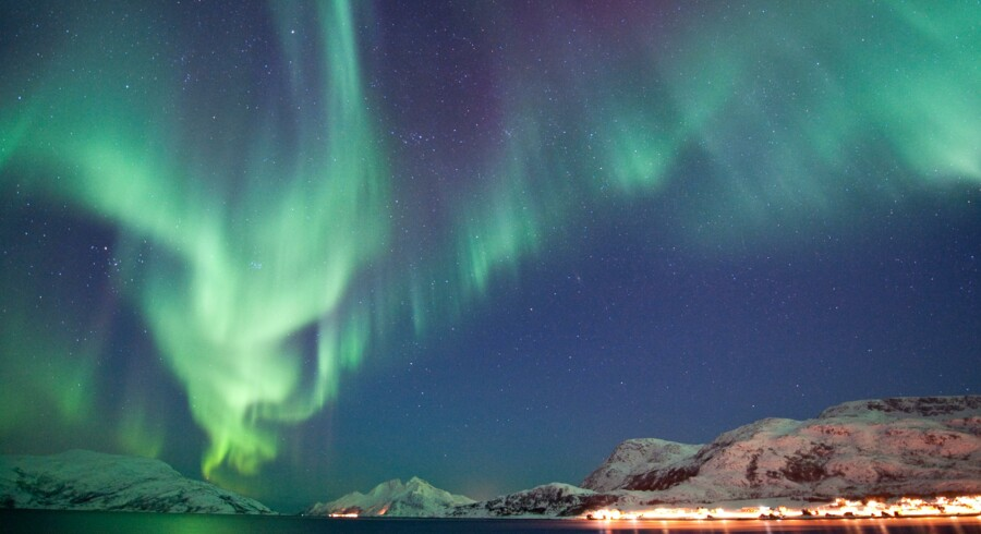 Nordlys over Nordnorge.