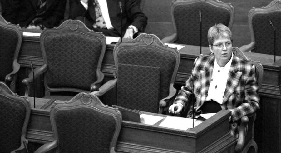 Yvonne Herløv Andersen var sundhedsminister fra 11. feb. 1994 til 20. december 1996 og var medlem af partiet Centrum-Demokraterne.