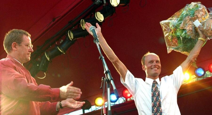 Bjarne Riis blev efter sin Tour-sejr i 1996 hyldet i Tivoli, hvor daværende statsminister Poul Nyrup Rasmussen holdt en tale til ære for den daværende cykelstjerne.