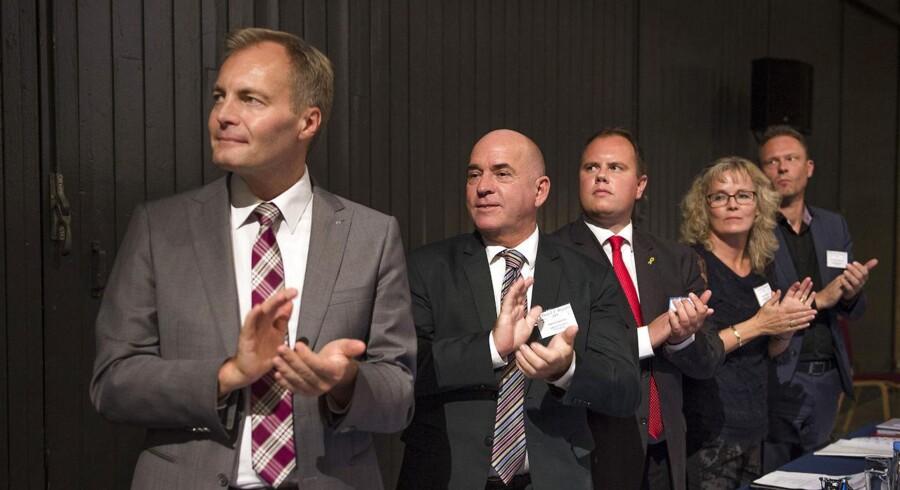 Dansk Folkepartis 19. årsmøde 2014. Fra venstre Peter Skaarup, Søren Espersen, Martin Henriksen, Karin Nødgaard og Carl Christian Ebbesen.