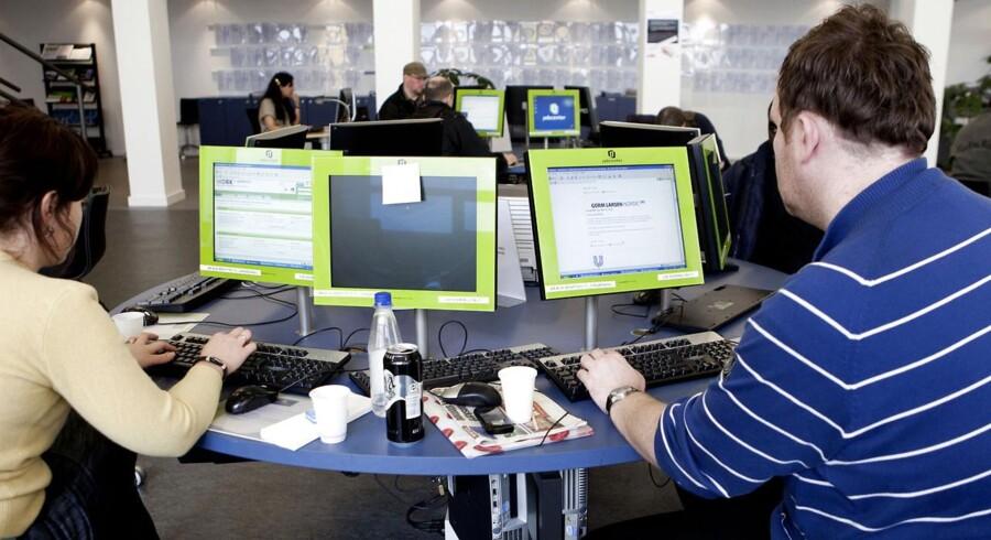 De danske jobcentre, som f.eks. dette i Nyropsgade i København, kan se frem til færre ledige pladser i 2014, ifølge OECD.