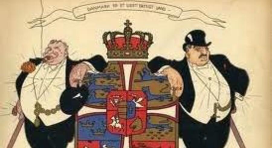 tegninger fra tiden under Første Verdenskrig kan ses på Storm P. museets kommende udstilling, »Tyk og fed på krigen«.