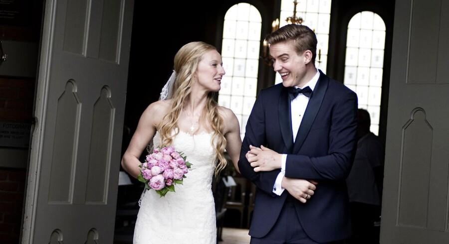 Christian og Monica Skytte Frederiksen blev gift den 5. juli 2014 i Bandholm Kirke på Lolland.