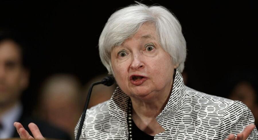 Janet Yellen er bekymret for aktiebobler.