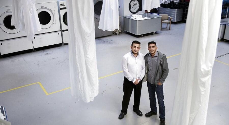 Mohammed og Bilal Warrad ejer vaskerivirksomheden A-Vask i Taastrup.