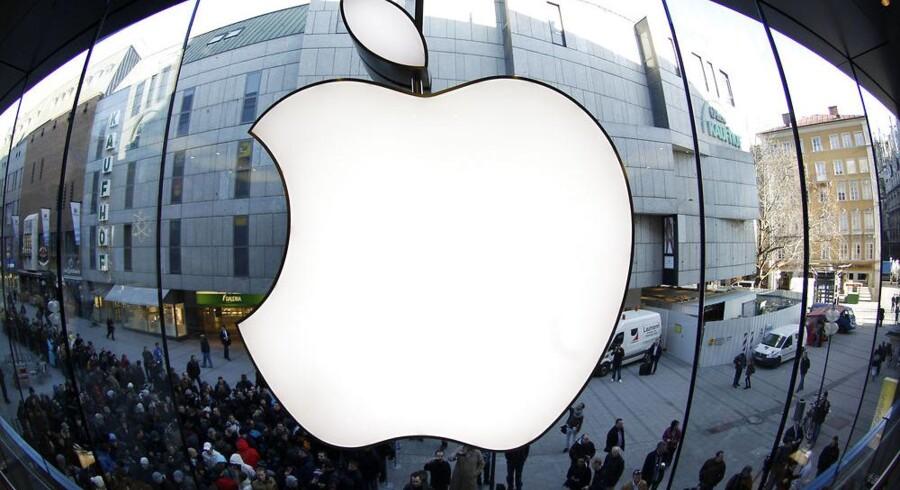 Der er glans om Apple, som i januar-marts havde over 700 millioner kroner i rent overskud om dagen, men Apple har faktisk endnu ikke overhalet Microsofts rekord. Arkivfoto: Michaela Rehle, Reuters/Scanpix
