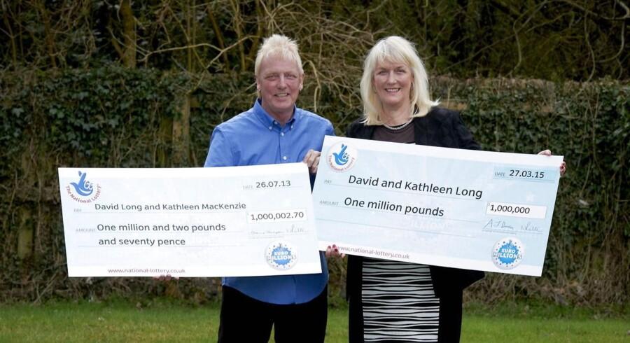 Hvor heldig har man lov at være? Britisk ægtepar har vundet millioner i lotto to gange på to år.