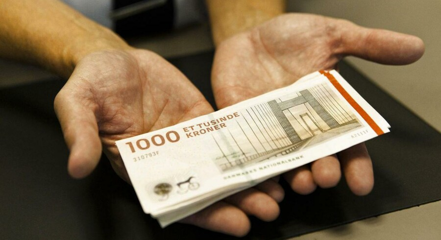 1000-kronesedler udgør nu over halvdelen af alle kontanter i Danmark - målt i kroner og ører.