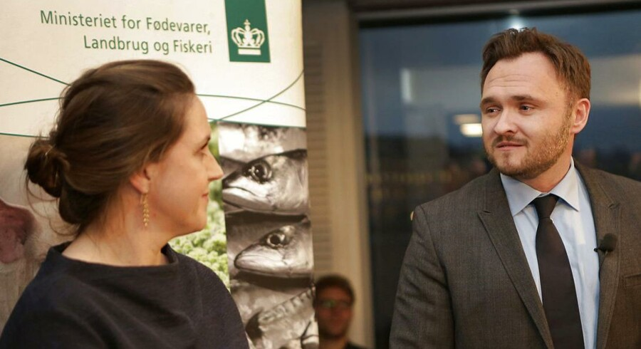 Dan Jørgensen afløser Karen Hækkerup som Fødevareminister 12.12.2013. (Foto: Michael Bothager/Scanpix 2013)