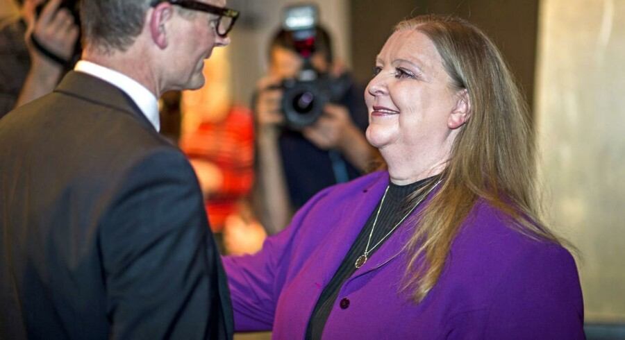 Koncernchef Lisbeth Knudsen, Berlingske Media, her fotograferet ved en reception for JP/Politikens nye formand Lars Munch.