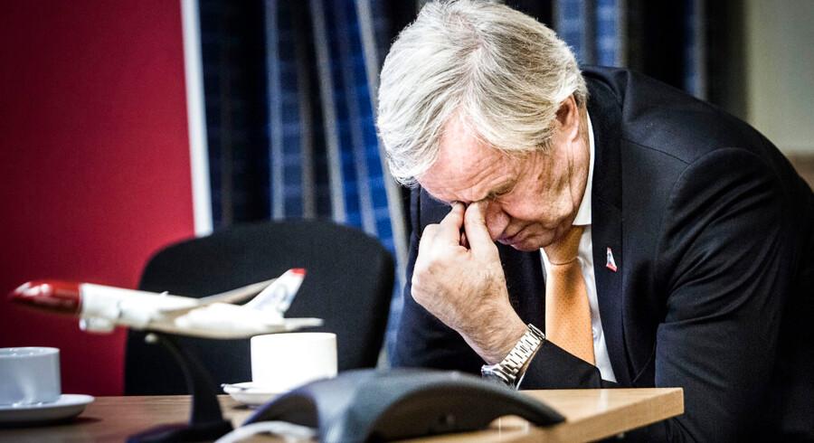 Her ses Bjørn Kjos, som er direktør for lavprisflyselskab Norwegian.
