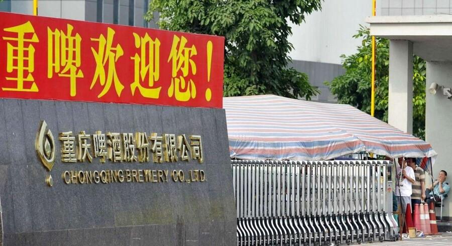 Det kinesiske Chongqing-bryggeri, hvor Carlsberg er storaktionær