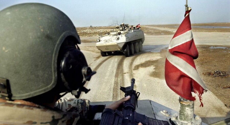 Cheferne for den danske bataljon i Irak vidste forud for den omstridte operation Green Desert i november 2004, at der efter al sandsynlighed udelukkende befandt sig civile på de mål, som den danskledede kampoperation skulle ramme. Arkivfoto.