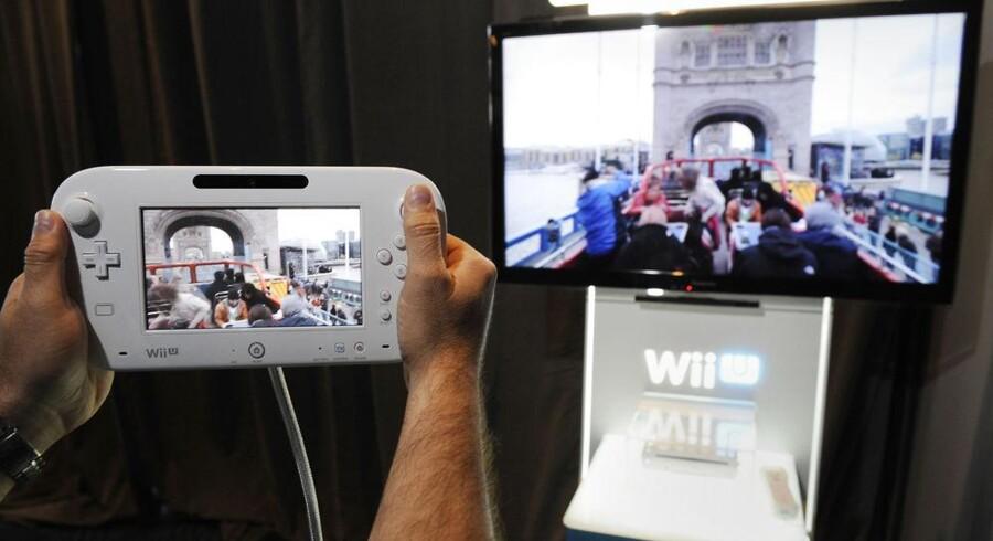 Nintendos nye spillekonsol, Wii U, som nu kommer i handelen, blev præsenteret i Los Angeles i juni. Arkivfoto: Phil McCarten, Reuters/Scanpix