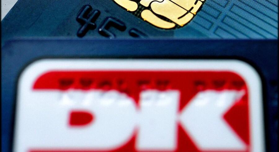 Billede af et Dankort og en chip.