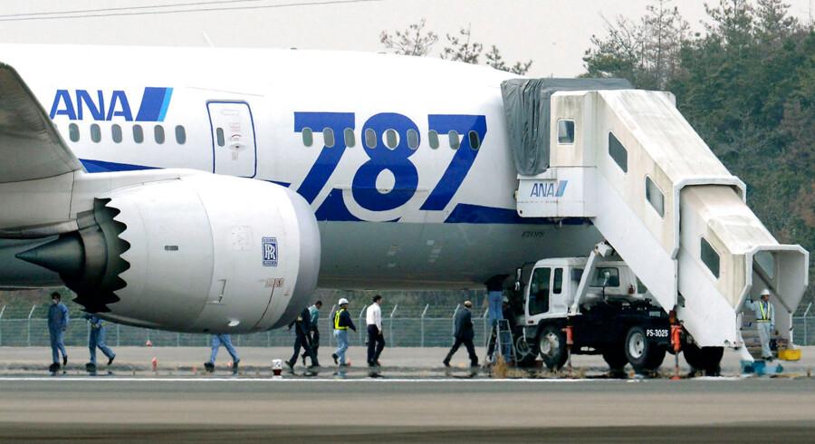 Et All Nippon Airways (Boeing 787 Dreamliner-fly måtte forleden nødlande i Takamatsu Airport i Japan.