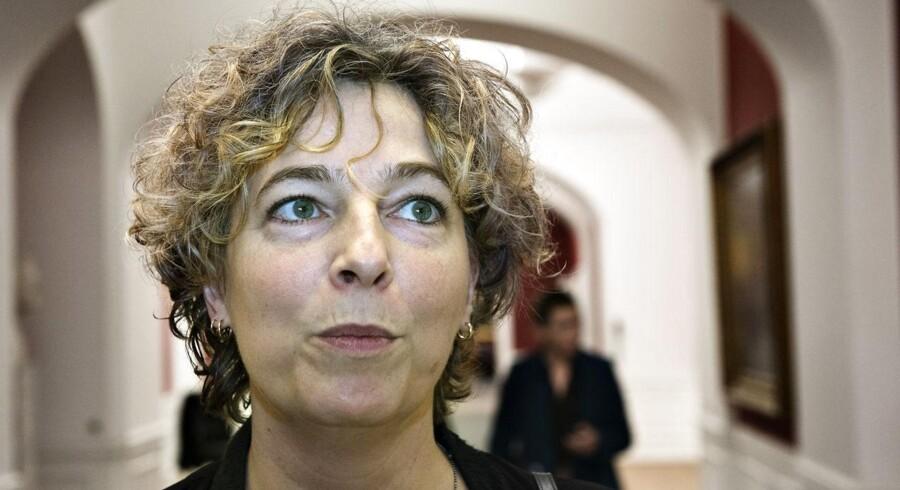 Uddannelsesminister Christine Antorini byder den ny børneavis velkommen. (Foto: Jens Nørgaard Larsen/Scanpix 2013)