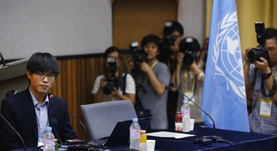 Shin Dong-hyuk, nordkoreansk afhopper og forfatter, deltog i den offentlige høring på Yonsei University i Seoul den 20. august. En undersøgelseskommission nedsat af FN begyndte at indsamle vidneudsagn fra nordkoreanske afhoppere til en rapport, der skal få flere involveret i statens brud på menneskerettighederne.