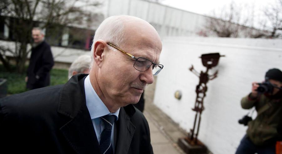 Steffen Normann Hansen ankommer til afhøring i skattesagskommissionen mandag d. 4 november 2013 på Fremtidsvej i Søborg. (Foto: Liselotte Sabroe/Scanpix 2013)