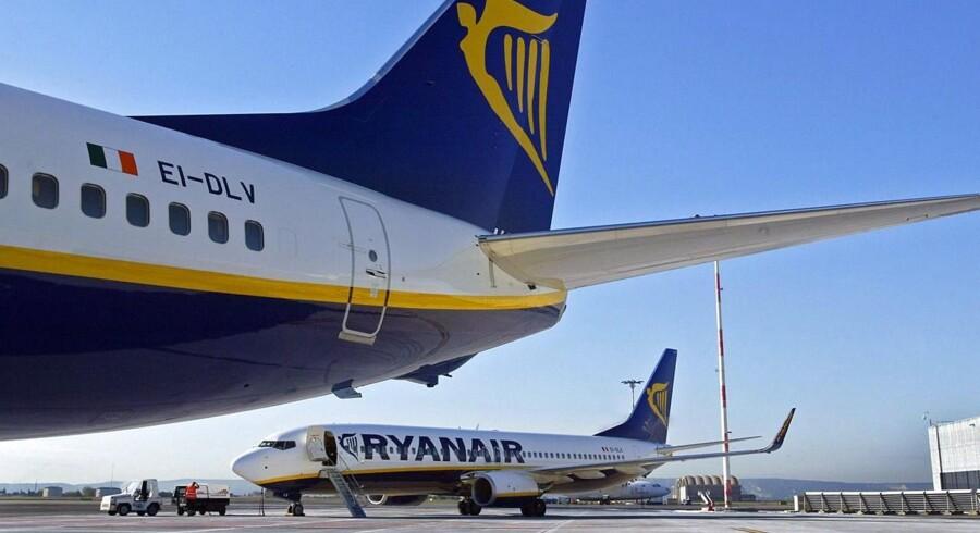 Her ses nogle af Ryanairs fly i lufthavnen i Marignane-lufthavnen ved Marseille.