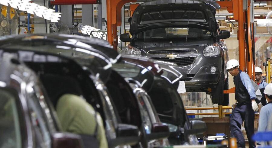GM offentliggjorde i regnskabet, at selskabet havde solgt 2,49 mio. biler.