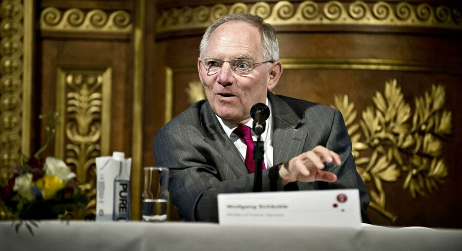 Wolfgang Schäuble, tysk finansminister.