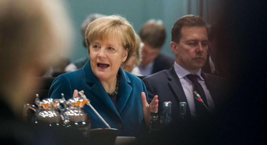 Tysklands kansler Angela Merkel afviser at give grækerne rabat på deres statsgæld.