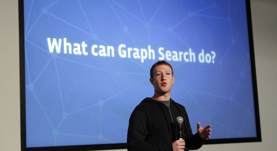 Facebooks CEO Mark Zuckerberg introducerer den nye søgemaskine Graph Search d. 15. januar 2013