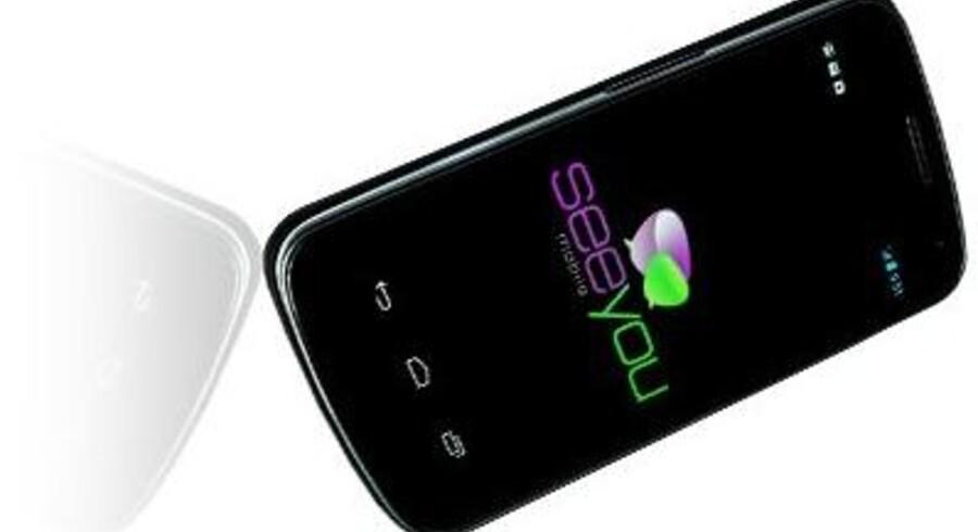 SeeYou Phone er et styresystem til smartphones, som giver synshandicappede mulighed for at betjene en smartphone via stemmekontrol. PR-foto.