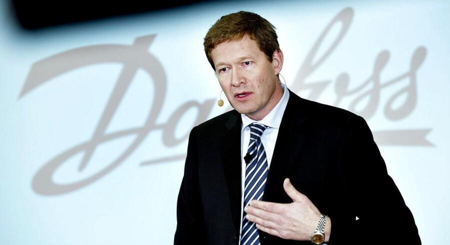 """Danfoss' koncernchef Niels B. Christiansen venter """"beskeden vækst"""" i år."""