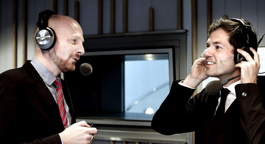 Mikael Bertelsen og Mads Brügger, kanalchefer på Radio24syv.