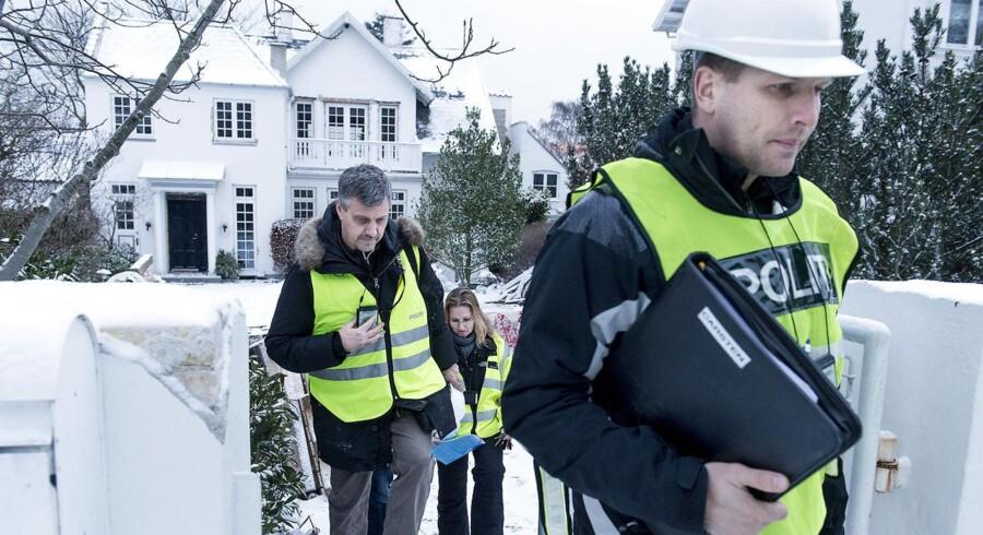 ARKIVFOTO: Skat, politiet og arbejdstilsynet i aktion mod illegal udenlandsk arbejdskraft sidste år.