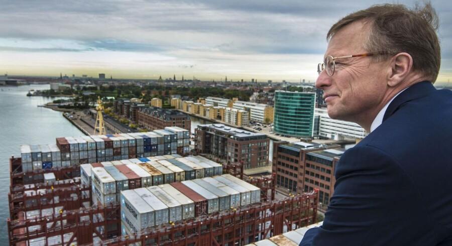 Mærsk-topchef Nils Smedegaard Andersen er tilfreds med koncernens fremgang i år.