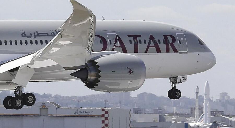 Qatar Airways har tilsyneladende problemer med et Boeing 787 Dreamliner, som holder parkeret i København.
