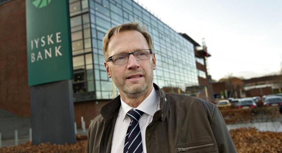 Anders Dam, ordførende direktør i Jyske Bank, erkender at han skuffede markedet med regnskabet for 2014, men han er selv tilfreds.