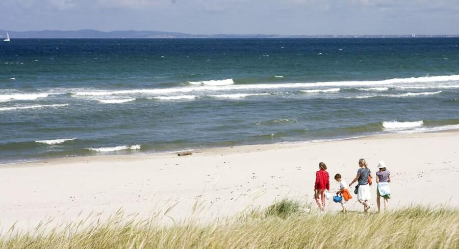 Den smukke strand i Hornbæk er med til at trække priserne på sommerhuse i top.
