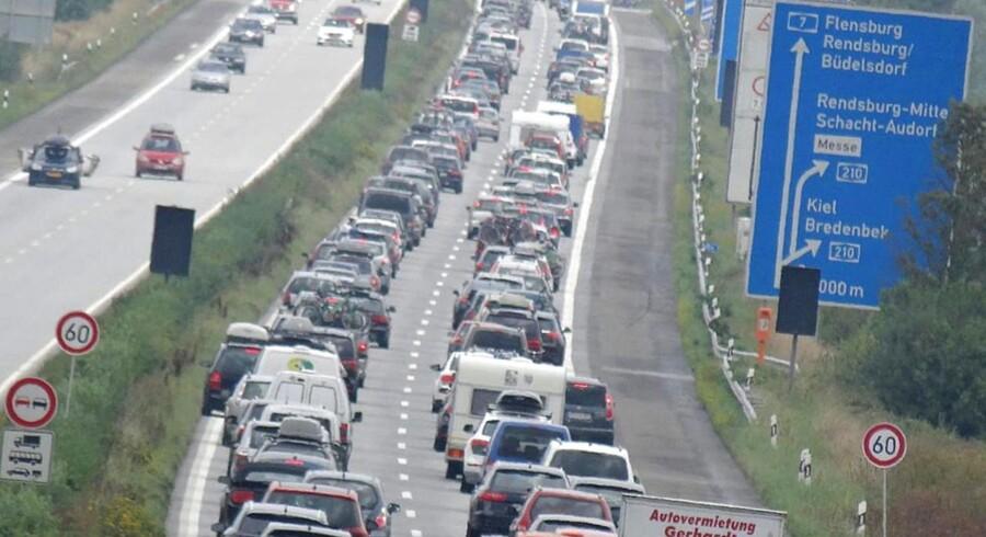 Trafikprop på tysk Autobahn