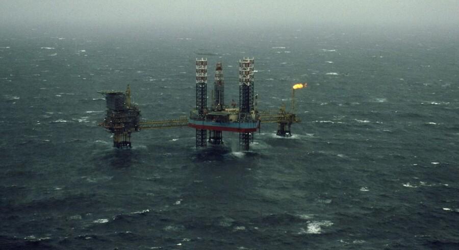 Olieboreplatform i Nordsøen.