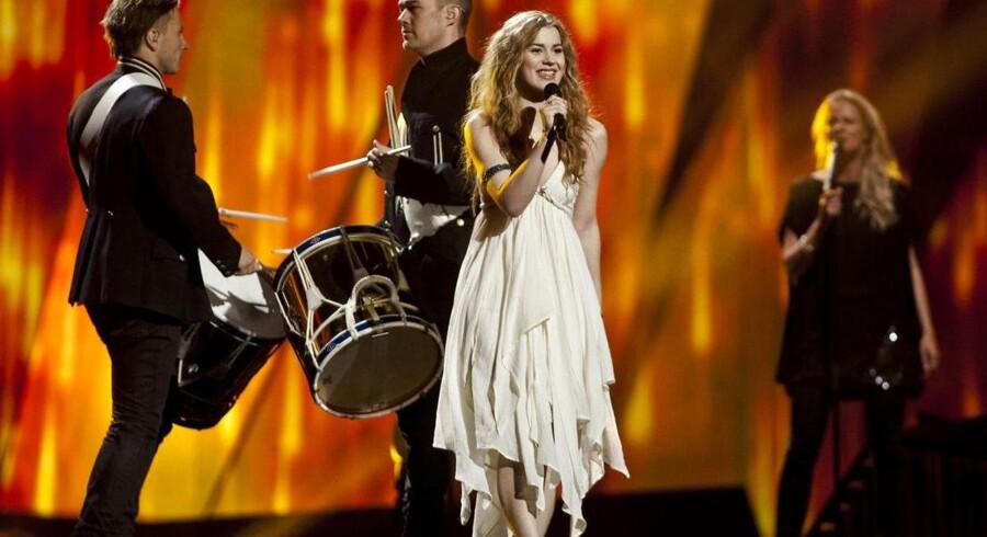 Danske Emmelie de Forest sang sig til førstepladsen i det Internationale Melodi Grand Prix med sangen Only Teardrops i Malmø i 2013.
