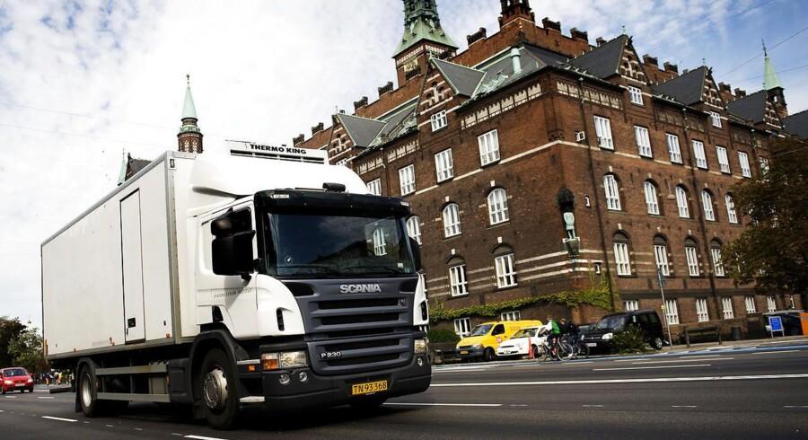 ARKIVFOTO af lastbil i København.